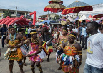 The Oguaa Fetu Afahye is celebrated by the people of Cape-Coast