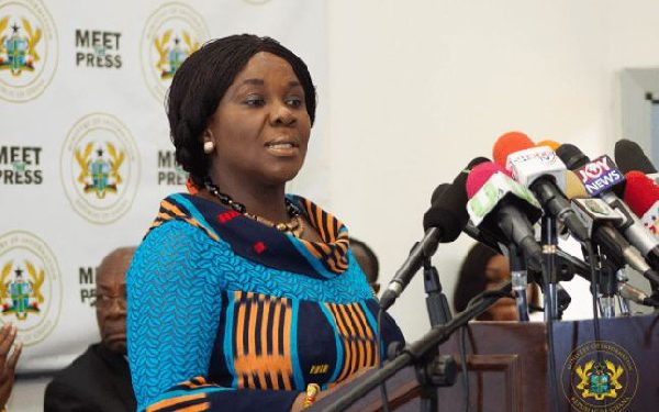 Cecilia Abena Dapaah has been re-nominated as the President's rep at the Sanitation ministry