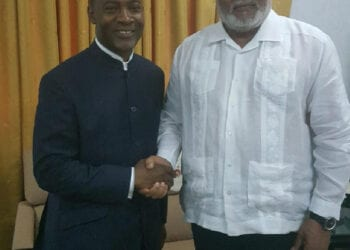 Rev. Lawrence Tetteh and the late former President Rawlings