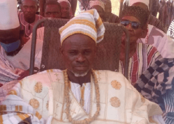 Naa Yelpoee Mwaamuo II, during his enskinment at his community in Sombo