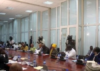 Some members of Parliament's Appointment Committee seated during proceedings