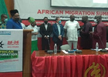 Some participants of the 2021 African Migration Summit