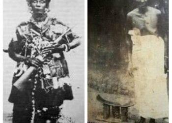 The old and new faces of the Ashanti warrior, Yaa Asantewaa
