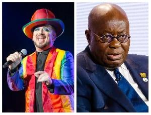 British gay musician Boy George and President Akufo-Addo