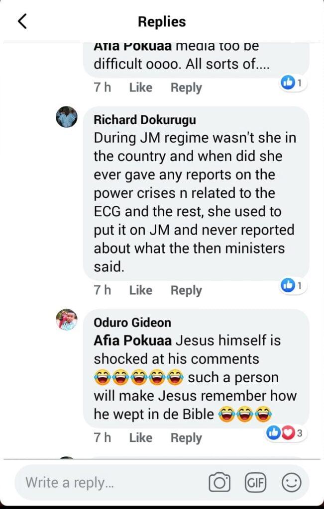 """Hwe ne John, you have exposed your ignorance""; Afia Pokuah goes wild on social media. 56"