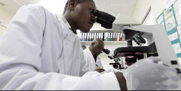 A photo of some laboratory scientists
