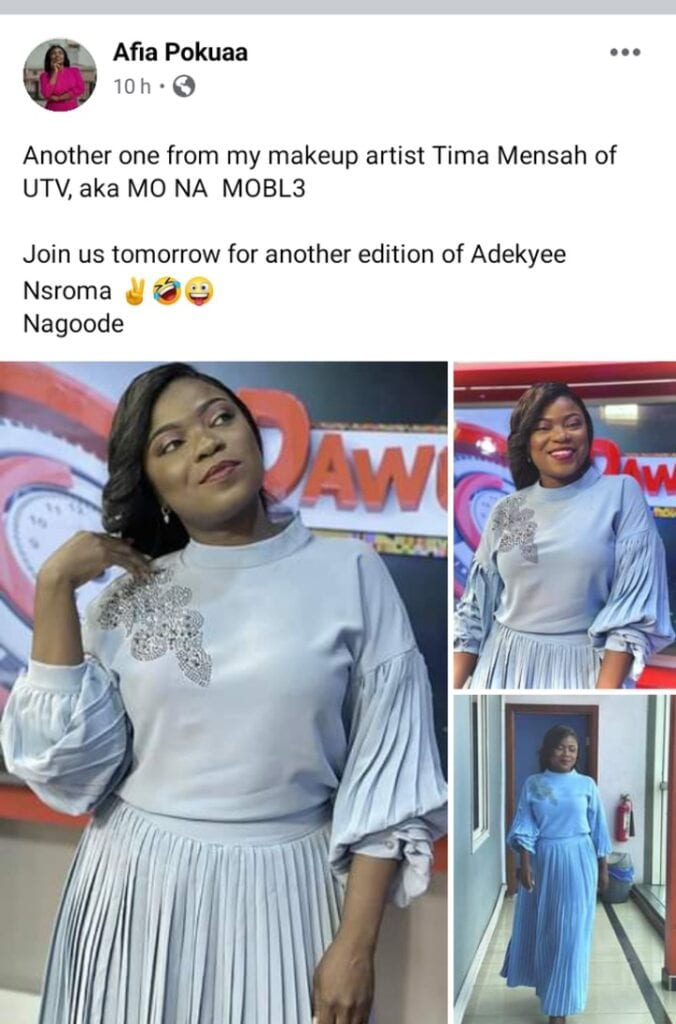 """""""Even if I'm ugly will that fix Ghana""""; Afia Pokuaah goes wild on Facebook after a netizen said this. 52"""