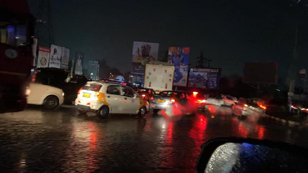 Several areas within the regional capital were flooded follwing the hours of rain