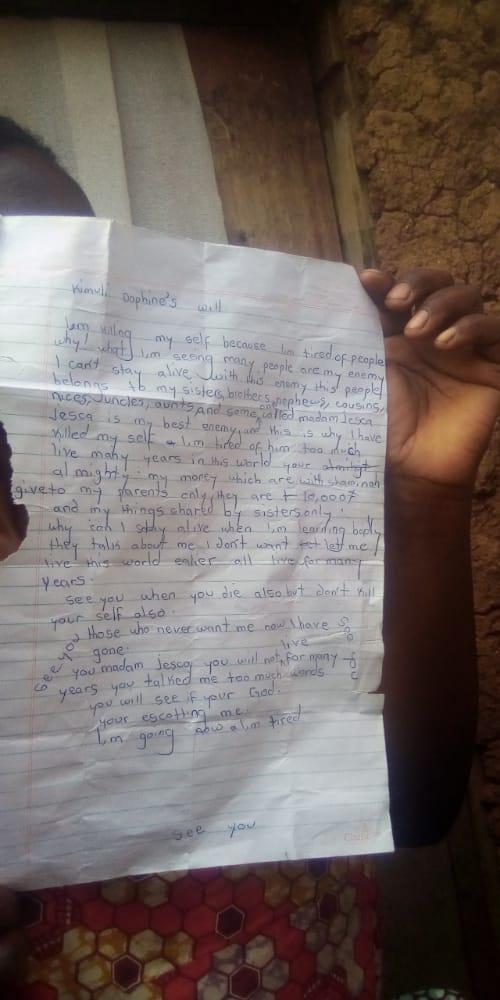 13-year-old girl hangs self over PLE results; leaves behind emotional note. 49