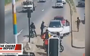 Footage of the robbery courtesy The Ghana Report