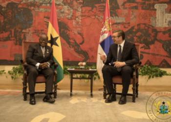 President Akufo-Addo with President of Serbia, Aleksandar Vučić